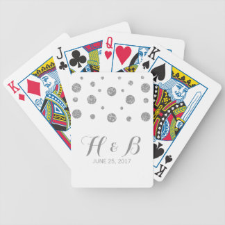 Silver Glitter Confetti Playing Cards
