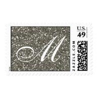 Silver Glitter  Custom Monogram Stamp