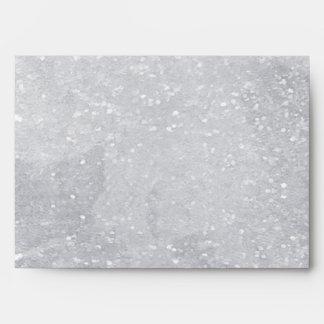 Silver Glitter Design Envelope