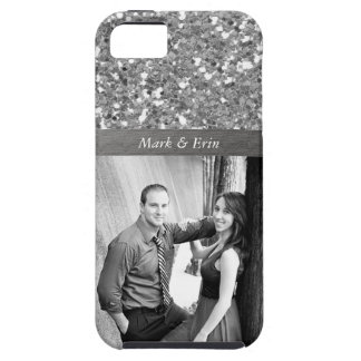 Silver Glitter Design Personalized Photo iPhone 5 Covers