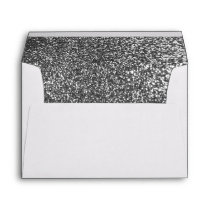 Silver Glitter Elegant Wedding Envelope