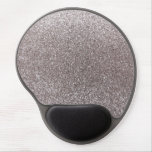 Silver glitter gel mouse pad