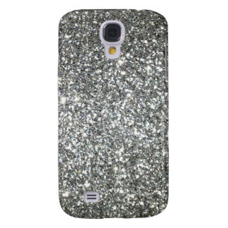 Silver Glitter Glamour Galaxy S4 Case
