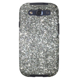 Silver Glitter Glamour Galaxy S3 Case
