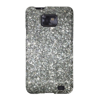 Silver Glitter Glamour Samsung Galaxy SII Cover