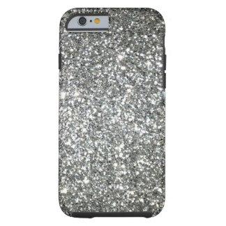 Silver Glitter Glamour Tough iPhone 6 Case