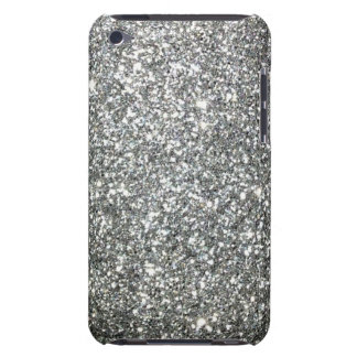 Silver Glitter Glamour Barely There iPod Case