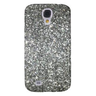 Silver Glitter Glamour Galaxy S4 Case