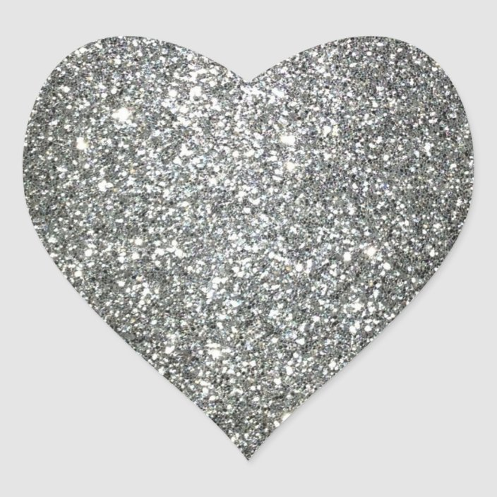 Silver Glitter Glamour Heart Sticker Zazzle Com Check out our silver glitter selection for the very best in unique or custom, handmade pieces from our shops. silver glitter glamour heart sticker zazzle com