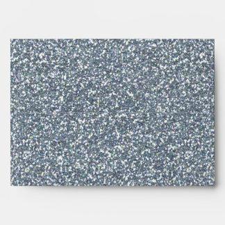 Silver Glitter Glamour Invitation Party Envelope