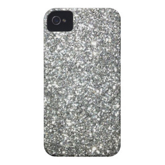 Silver Glitter Glamour iPhone 4 Cover