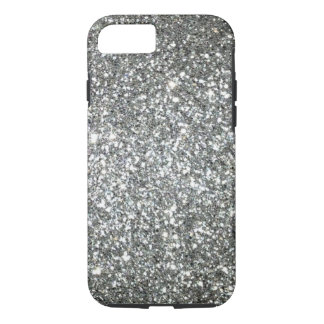 Silver Glitter Glamour iPhone 7 Case