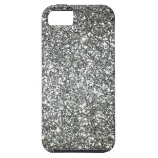 Silver Glitter Glamour iPhone SE/5/5s Case