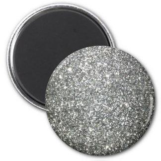 Silver Glitter Glamour Magnet