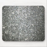 """Silver Glitter Glamour Mouse Pad<br><div class=""""desc"""">This design was created using a close up photograph of sparkling and shimmering glitter paper. **PLEASE NOTE** Your finished product will NOT have any real glitter applied to it, it will not have the sparkle and shine of glitter, and it will not have a reflective metallic surface. It will be...</div>"""