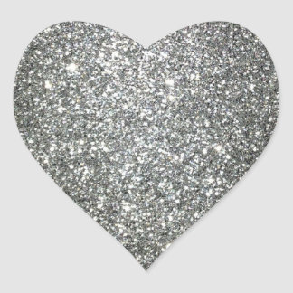 Silver Glitter Glamour Stickers