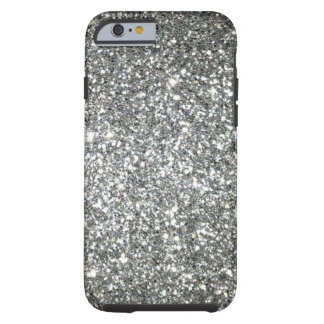 Silver Glitter Glamour Tough iPhone 6 Case