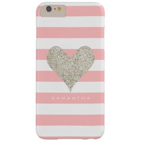 Silver Glitter Heart