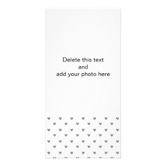 Silver Glitter Hearts Pattern Card