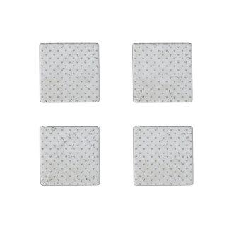 Silver Glitter Hearts Pattern Stone Magnet