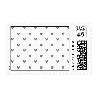 Silver Glitter Hearts Pattern Stamps