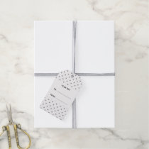 Silver Glitter Hearts with Monogram Gift Tags