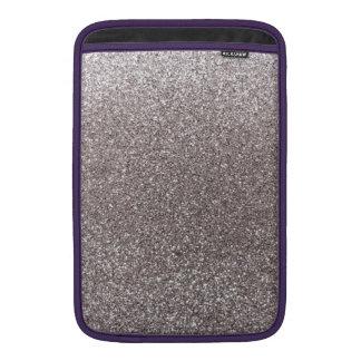 Silver glitter sleeve for MacBook air
