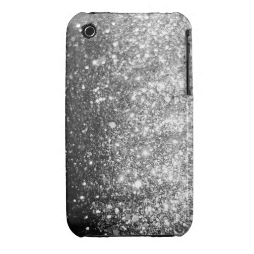 Silver Glitter iPhone 3 Christmas Case iPhone 3 Cover