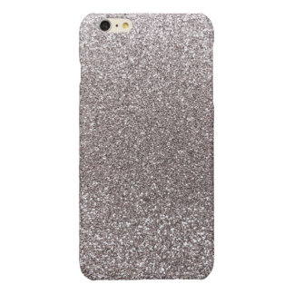 Silver glitter glossy iPhone 6 plus case