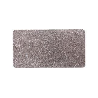 Silver glitter address label