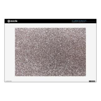 Silver glitter laptop decals