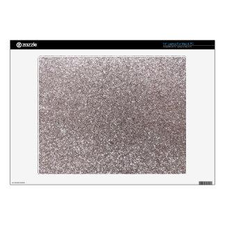 Silver glitter laptop skin