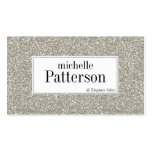 Silver Glitter Look Appointment Business Cards