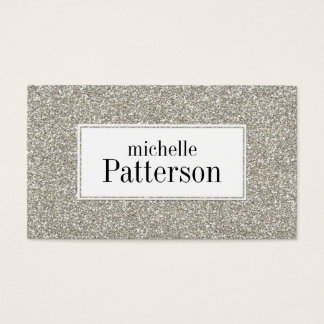 Silver Glitter Look Professional Business Cards
