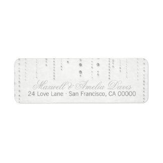 Silver Glitter Look Wedding Address Labels