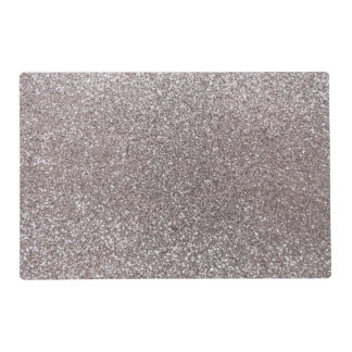 Silver glitter laminated placemat
