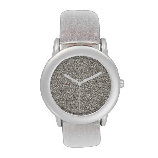 Silver Glitter-on-Glitter Ladies' Watch
