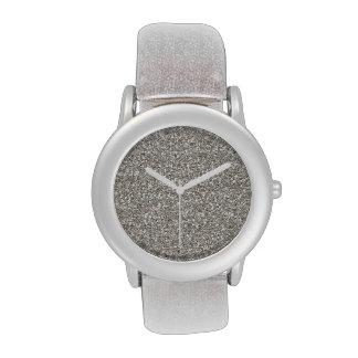Silver Glitter-on-Glitter Men's Watch