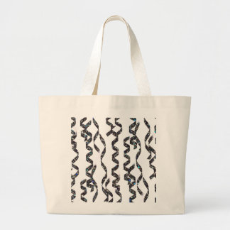 Silver Glitter Party Streamers on White Background Jumbo Tote Bag