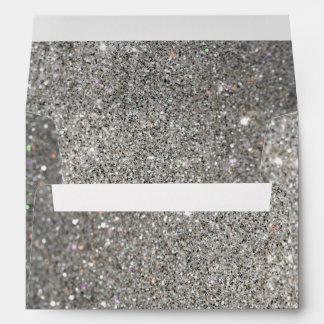 silver glitter pattern Envelope