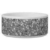 Silver Glitter Pattern Look-like Bowl