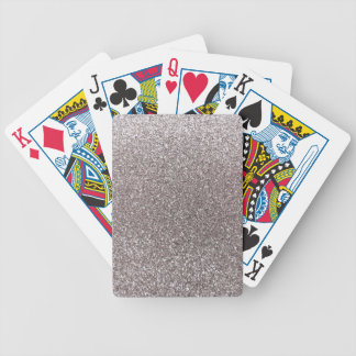 Silver glitter deck of cards