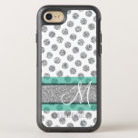 "Silver Glitter Polka Dot Pattern with Monogram OtterBox Symmetry iPhone 8/7 Case<br><div class=""desc"">NOT REAL GLITTER - Trendy patterns and personalized name and monogram.</div>"