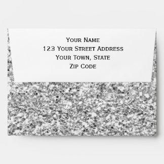 Silver Glitter Printed Envelopes
