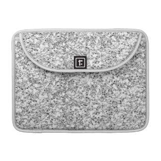 Silver Glitter Printed MacBook Pro Sleeves