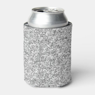 Silver Glitter Printed Can Cooler