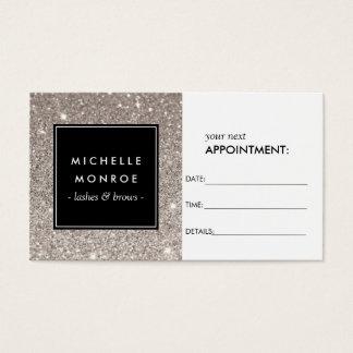Silver Glitter Salon Appointment Card