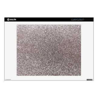 Silver glitter laptop decal