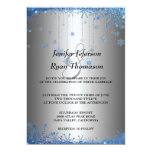 Silver glitter snowflakes wedding Invitation
