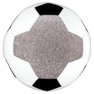 Silver glitter soccer ball